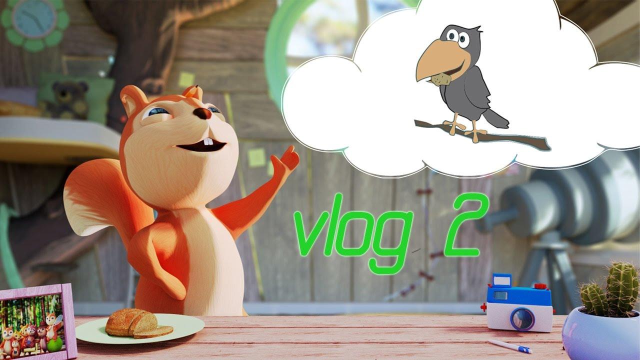 Cartone animato volpe u vettoriali stock kolonorf