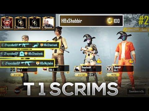 Fight Against HB Shabbir Gaming In T1 Scrims Pubg Mobile