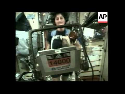 Astronaut begins 'Boston Marathon' in space
