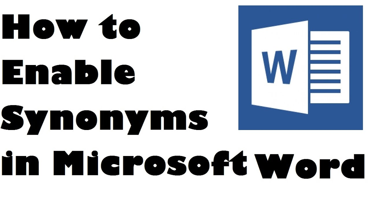 How to enable synonyms in ms word simple steps youtube how to enable synonyms in ms word simple steps biocorpaavc