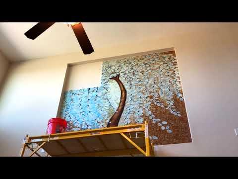 Mosaic Mural Tile Installation