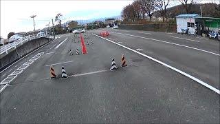 大型二輪の卒業検定。(京都・CB750)