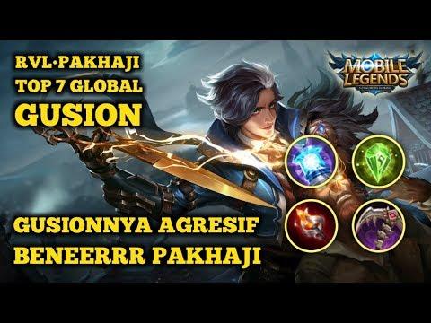 Mobile Legends - Top 7 Global Gusion Pak Haji/BestTactic - Agresif beneerrr gusionnya
