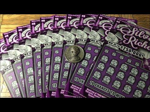 big ol' $50 batch of silver riches california lottery scratcher