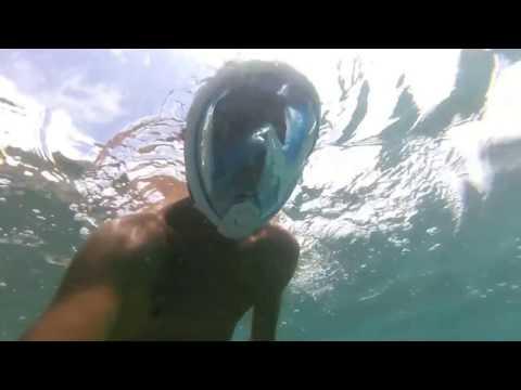 Immersione con maschera da snorkeling Easybreath