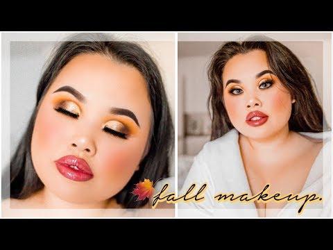 Gold Cut Crease Fall Makeup Tutorial | Kim Thai