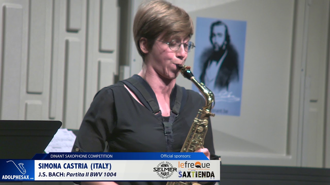 Simona Castria (Italy) - Partita II by J S  Bach (Dinant 2019)