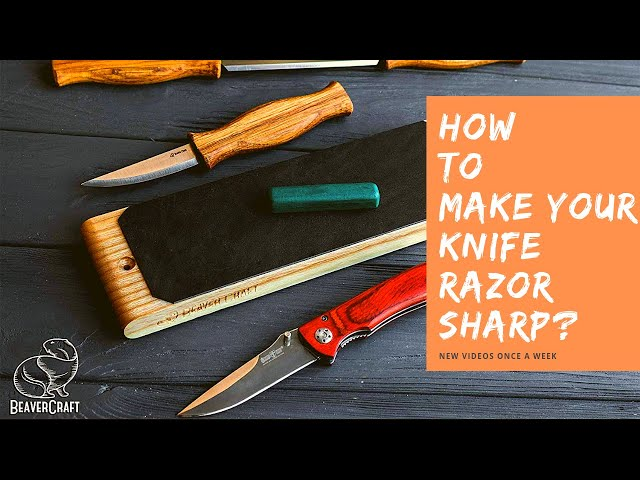 How to Make Your Knife Razor Sharp? 🤔 Easy Sharpening for Beginners I LS1P1 Paddle Strop