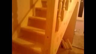 Обзор лестницы с забежными ступенями за 2,5 дня / ступенька 48