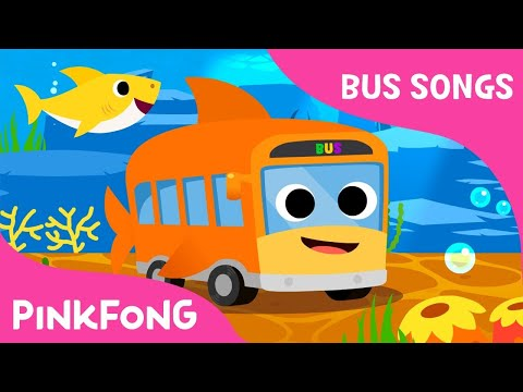 Shark Bus | The shark bus goes  round and round | Bus Songs