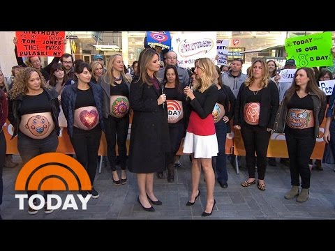 Sara Blakely's 'Belly Art Project' Celebrates Pregnancy With Painted Bellies | TODAY