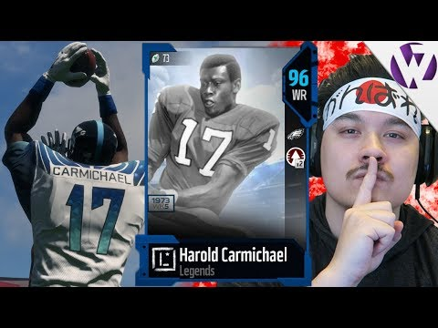 HAROLD CARMICHAEL THE TALLEST WR IN NFL HISTORY CLUTCHES UP!! - Madden 18 Harold Carmichael Gameplay