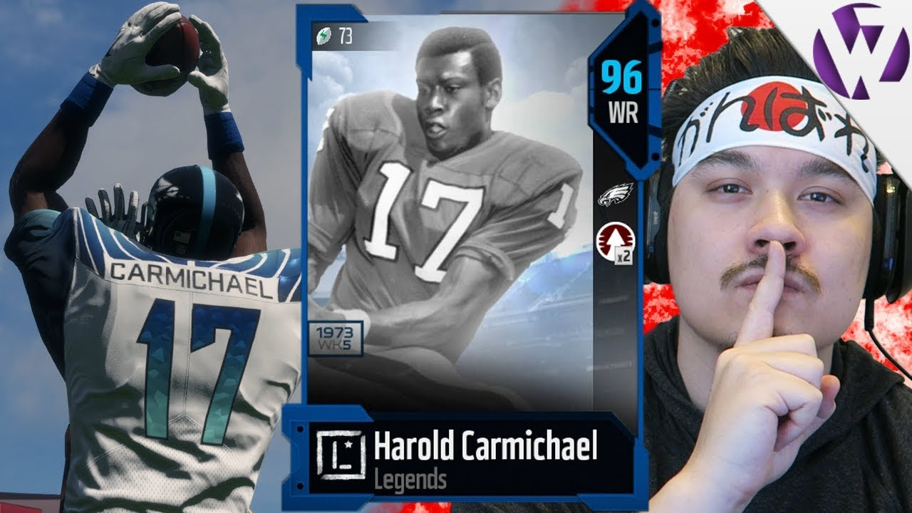 3080c9973f6 HAROLD CARMICHAEL THE TALLEST WR IN NFL HISTORY CLUTCHES UP!! - Madden 18 Harold  Carmichael Gameplay