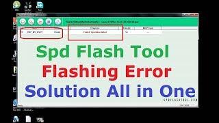 Spd flash tool failed:write flash failed solution