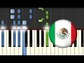 Himno Nacional de Mexico / Piano Tutorial / Notas Musicales