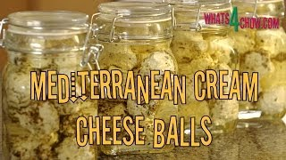 Mediterranean Cream Cheese Balls. How To Make Garlic And Herb Cream Cheese Balls In Olive Oil.