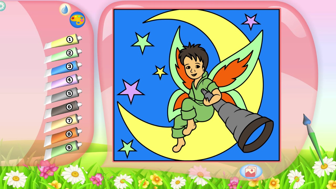Fairies Coloring Book | Picture painting color
