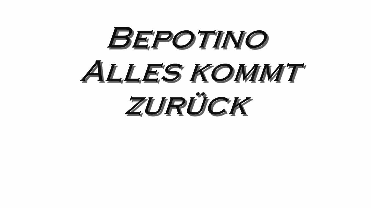 roger cicero alles kommt zur ck cover bepotino youtube. Black Bedroom Furniture Sets. Home Design Ideas