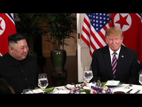 Watch: Trump and Kim meet in Vietnam for historic summit