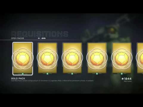 Halo 5 another 100$ gold pack opening 50+ gold packs