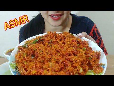 VEG BIRYANI + GRAVY ASMR | INDIAN FOOD EATING SOUND | DETECTIVE BITES