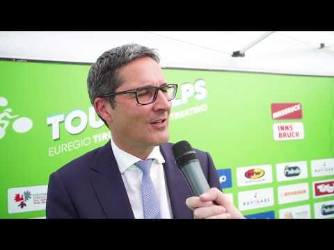 """Arno Kompastcher (Pres. Euregio): """"Ora l'Euregio è nel cuore del ciclismo"""""""