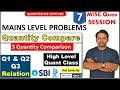 3 Statements Based Quantity Comparison Q1 Q2  Problem | High Level Quant Lesson
