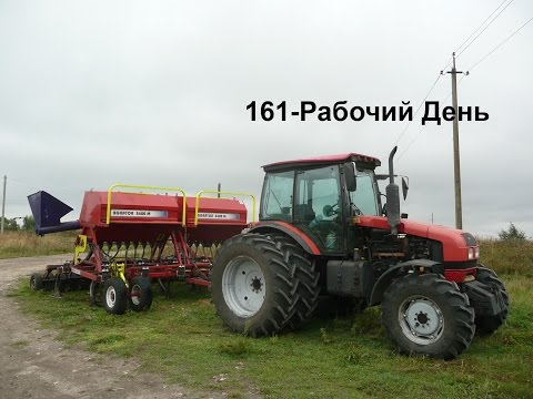 161-Д.Немного о тракторе МТЗ-1523.Пробуем молотить, но увы...