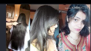 how to do perfect front bangs hair cut perfect way long hair cut step by step long to short haircut