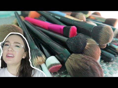 Decluttering My Makeup Brushes… 50% Gone! FionaFrills Vlogs