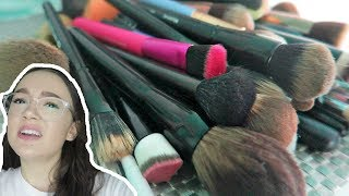 Decluttering My Makeup Brushes… 50% Gone! FionaFrills Vlogs