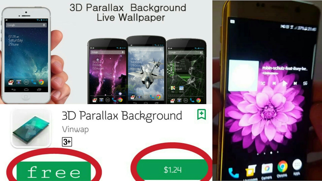 3D Parallax Background Free Download|Top Wallpaper Apps for LG G6,Mix,Samsung S8 & All Phone[Bangla]