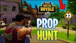 The best hiding place prop hunt fortnite or a big glitch? #solarykinstaar