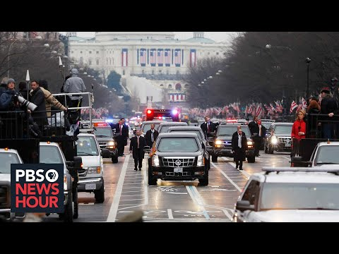 President Donald Trump's motorcade heads to White House