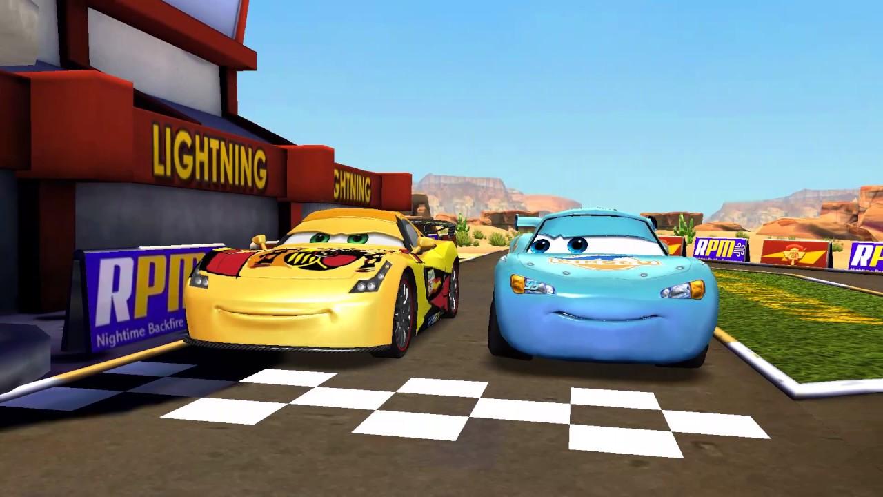 Disney Arabalar Cizgi Filmi Oyunu Mavi Simsek Mcqueen Youtube