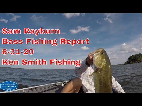 Sam Rayburn Bass Fishing Report 8 31 20 - Ken Smith Fishing