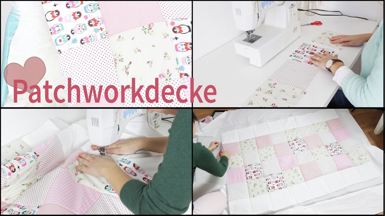 patchworkdecke babydecke diy lovethecosmetics youtube. Black Bedroom Furniture Sets. Home Design Ideas