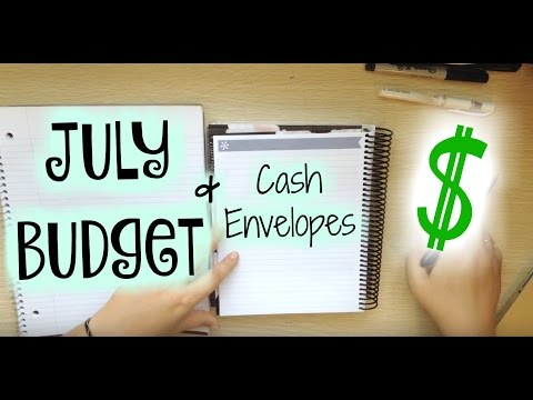July Budget +Cash Envelopes || Veterinary Student Budget || Living On Loans With Minimal Debt