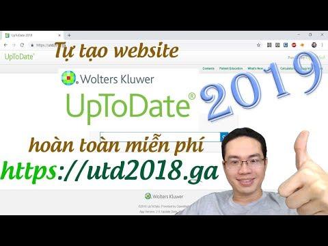 Đưa MIỄN PHÍ Uptodate Offline Lên Trang Web Của Riêng Bạn - Hướng Dẫn Y Khoa