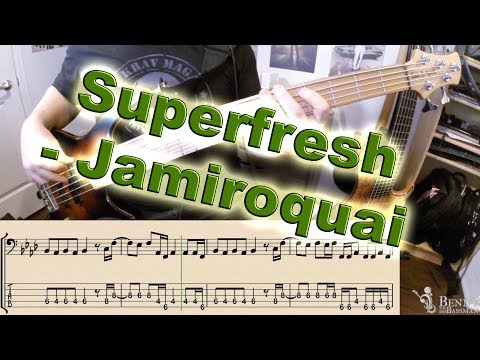 Jamiroquai - Superfresh [SOLO BASS] - with notation and tabs