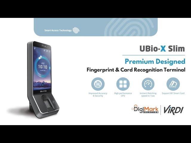 Is It The Most Premium Looking Time Attendance Device??? VIRDI UBio-X Slim | Digi-Mark Solution
