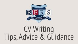 CV Writing Advice - How to Write A CV