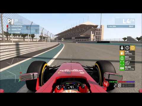 F1 2014, Abu Dhabi one shot qualifying and 25% race