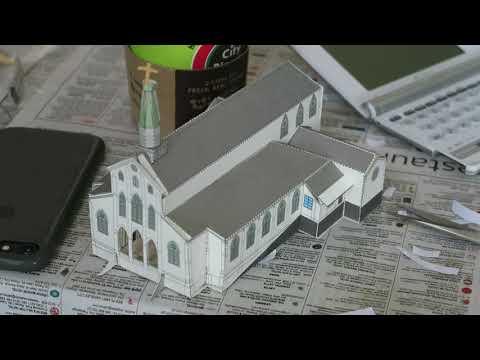 Oura church paper craft workshop July 13, 2019 大浦天主堂紙模型ワークショップ