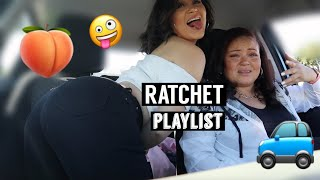 MOM REACTS TO MY RATCHET MUSIC PLAYLIST