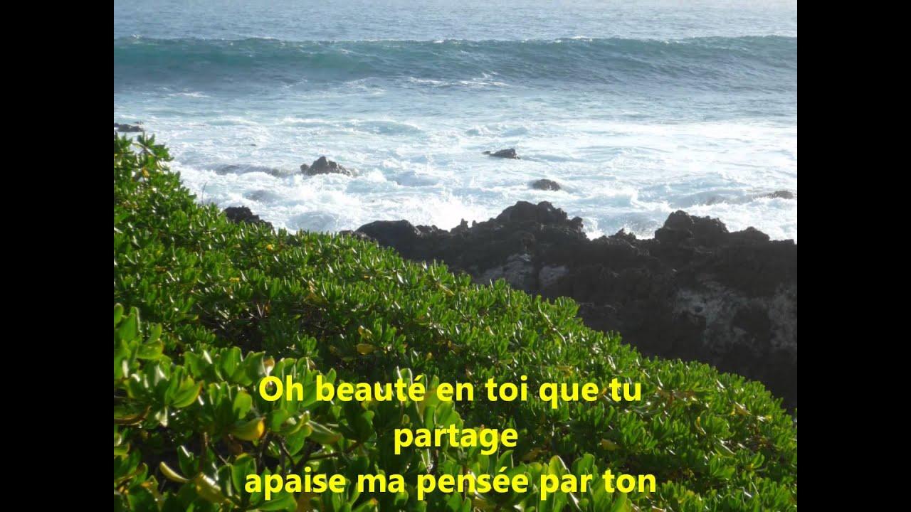Poème Sur Lile De La Réunion Accompagnement Musical Serge Lama Une île