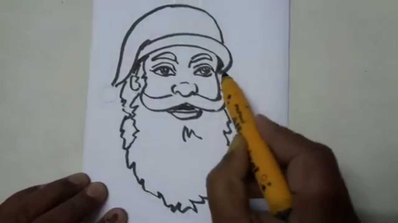 drawing how to draw a cute cartoon santa claus easy step