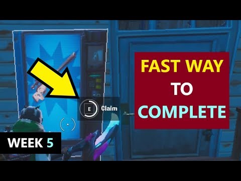 Claim Vending Machines In Different Matches  (Fortnite Season 10 Week 5 BLOCKBUSTER Challenges)