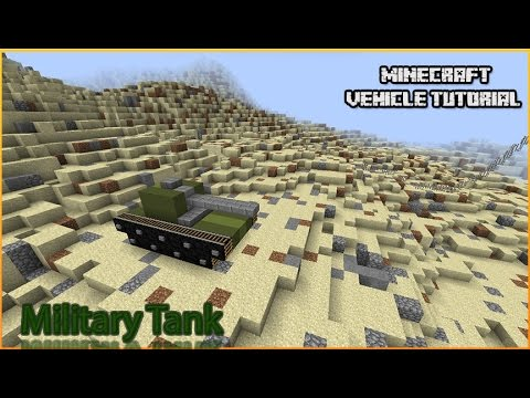 Minecraft Vehicle Tutorial - Military Tank