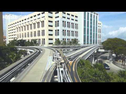Metro Mover Miami - a downtown trip
